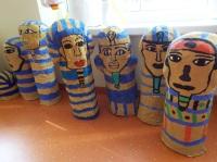"""Mumien"", Kunstprojekt Klasse 7"