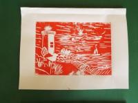 Druckgrafik-Linolschnitt
