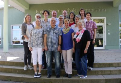 Kollegium August 2016 mit Herrn Mettin